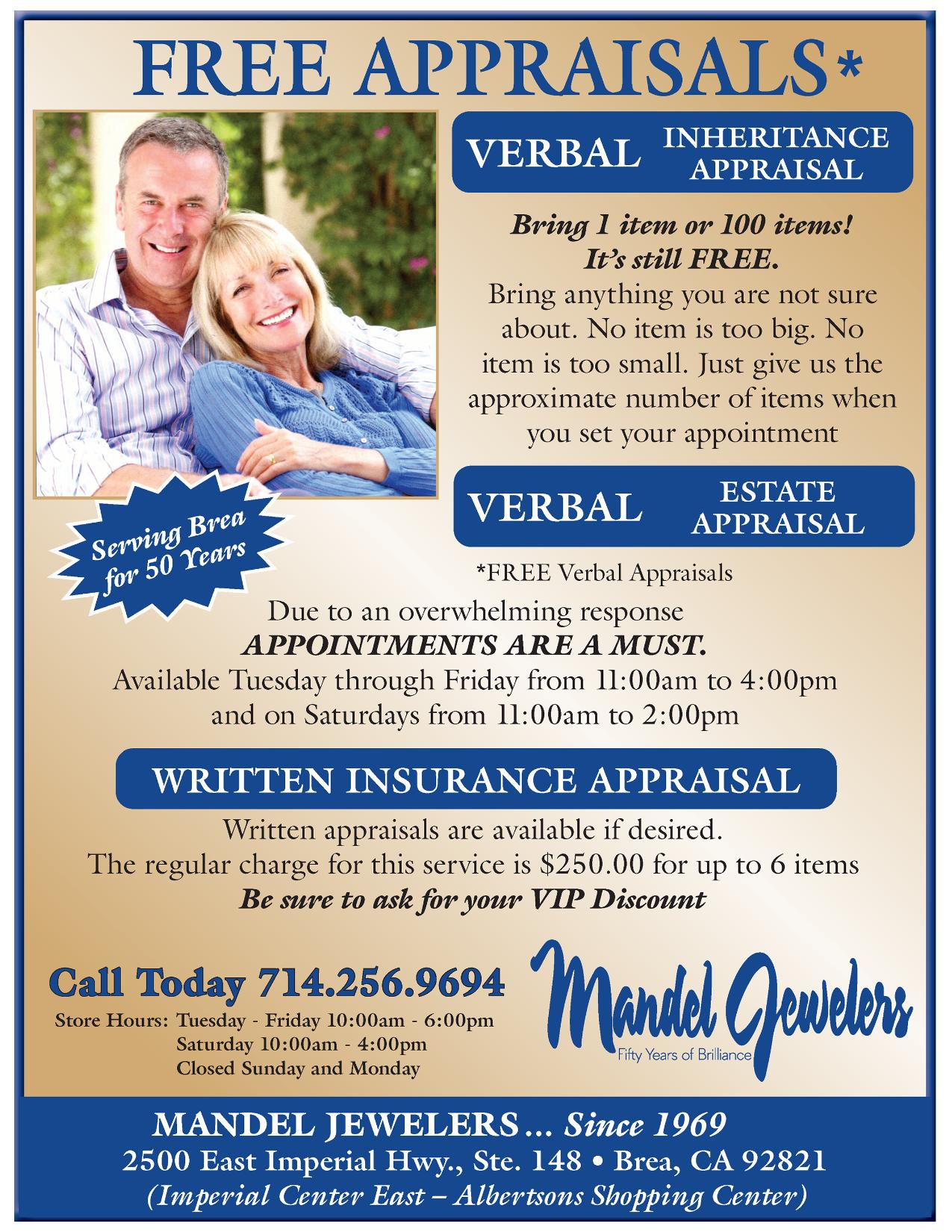Free Appraisals